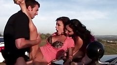Marvellous threesome with one bored police officer