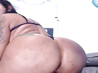 Intense pussy pounding Wild latina chick with tattoo in a intense pussy play