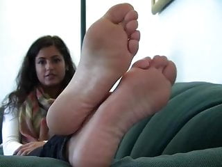 His cock stiffened - Teen with dick stiffening big soles