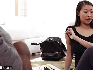 Asian cheat client Xempire - asian yoga instructor takes her clients bbc