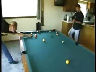 Billard ball pussy Billard threesome game