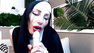 Hot MILF nun sucks cock and cums like a whore