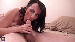 French MILF Mia gets fucked in all holes