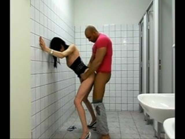 Couple Fucks Public Bathroom