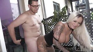 Milaelaine! Neighbor nerd fucks and inseminates her pussy!