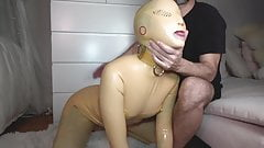 Doll Suit Threeway Hard Face Fuck with Ava D'Amore