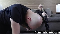 Boot and foot domination with Crystal Clark