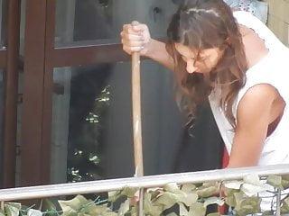 Sideboob On The Balcony