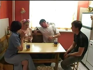 Cartoon strip poker Russian swingers play strip poker.