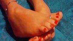 Sexy Nylon Feet Toes