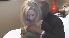 Blonde wife with bbc. Hubby films