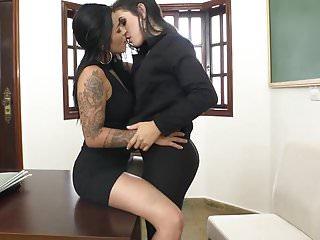 Lesbian coworker Kissing coworkers