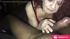 Granny gets a creampie