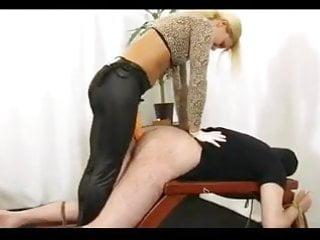Xxx male sex slave Mistress pegging male slave
