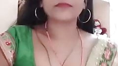 SATIN SILK SAREE AUNTY - USHA TIWARI