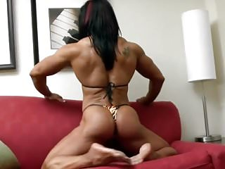 Busty muscular females Female bodybuilder ripped glutes
