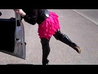 Mature women mico minis - Linda in pink mini
