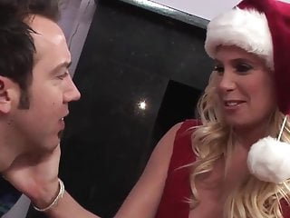 Sex with santas helpers - Santa helper milf in stockings take a big facial