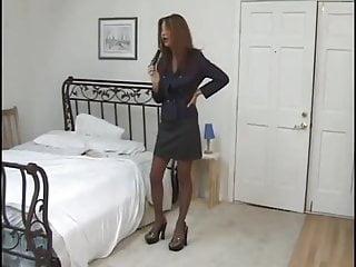 Loreli bedroom bondage Secretary in bedroom