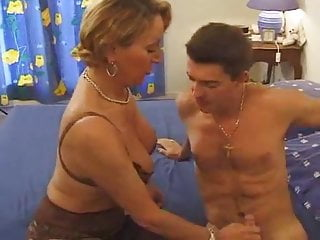 Busty french maids - Busty french mom likes young cock by troc