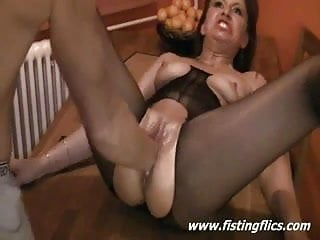 Scream during sex - Sexy slut screams during frantic fisting orgasm