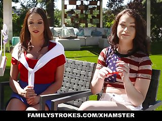 Sexy bosss daughter - Familystrokes - sexy milf joins step-son daughter in three