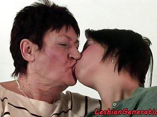 Mature oral sex video Eurobabe scissoring grandma after oral sex