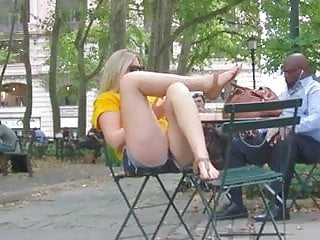Fetish hyde park Blonde candid feet and legs in park