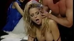 Peter North fucks a smokin hot blonde in fishnets