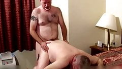 Two hot daddies in bedroom