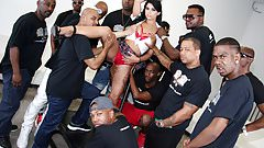 Gina Valentina Interracial Blowjob Orgy