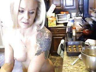 Foggy bottom hotel kitchen fitness Fit blonde in her kitchen