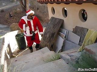 Naked santa girl Bad black santa ass licked by and fucks lucky white girl