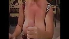 Big tits granny blowjob and swallow