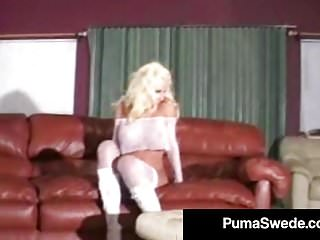 Porn fucking puma swede Swedish busty blonde puma swede does major hardcore fucking