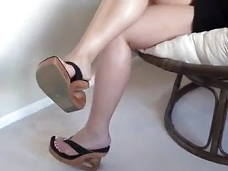 The wedge xxx Dangling sexy wedges