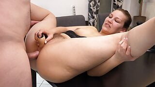 My 1st double penetration with anal creampie l DADDYS LUDER