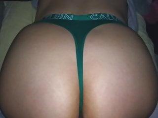 Fuck your sister s friend Ck green thong cumming on sister s big ass