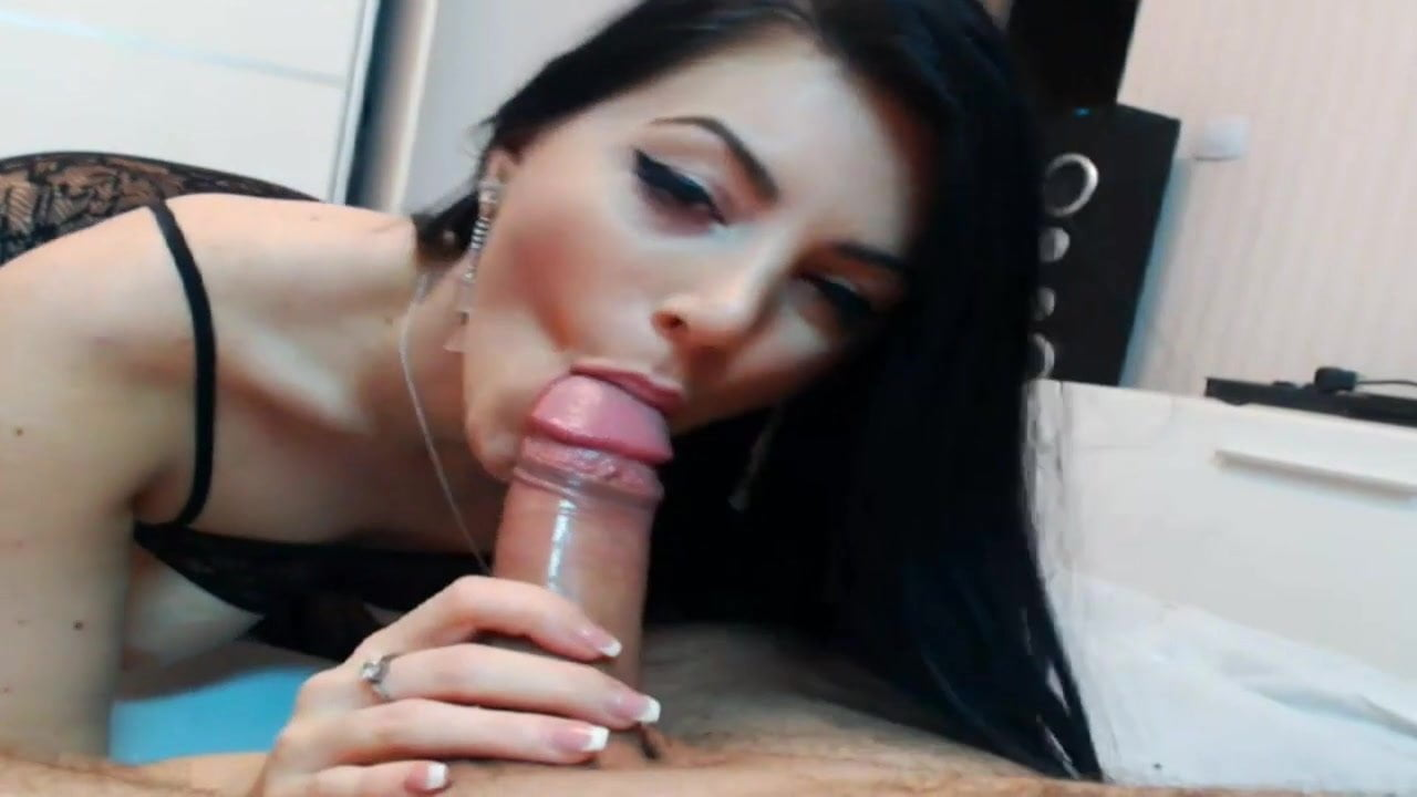 Pov blowjob sexy brunette webcams