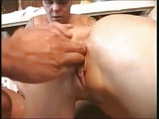 Slutty loose pussy - Sexy blond with a loose pussy getting fisted hard