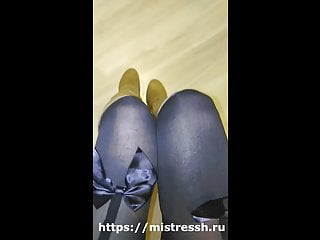 Boot fetish tube Lick my heel humiliation from mistress boot fetish pov