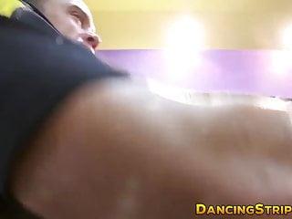 Big black butt stripper Big black stripper cock blown at hairdresser salon party
