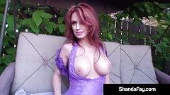 Huge Round Boobed Shanda Fay Does Some Hot Backyard Fucking!