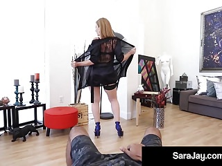 Sara jay sex Sex fiend milf sara jay sucks jacks off a huge black cock