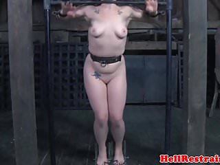 Master slave in sex Bound slave dominated with toy by master