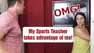 OMG! My trainer takes advantage of me shamelessly! Emma Secret