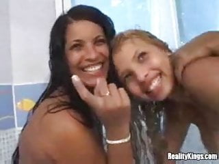 Brazilian girls getting fucked Two brazilian girls in the tub, fuck mike and suck tony