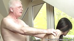 Pretty Euro amateur fucked and fed with cum by old boss