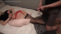 Bound amateur, buttplug and spanking