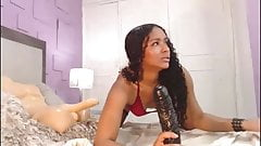 Big ass Colombian cam girl loves her toys